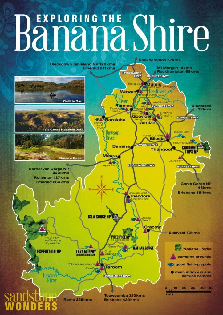 Banana Shire map WEB