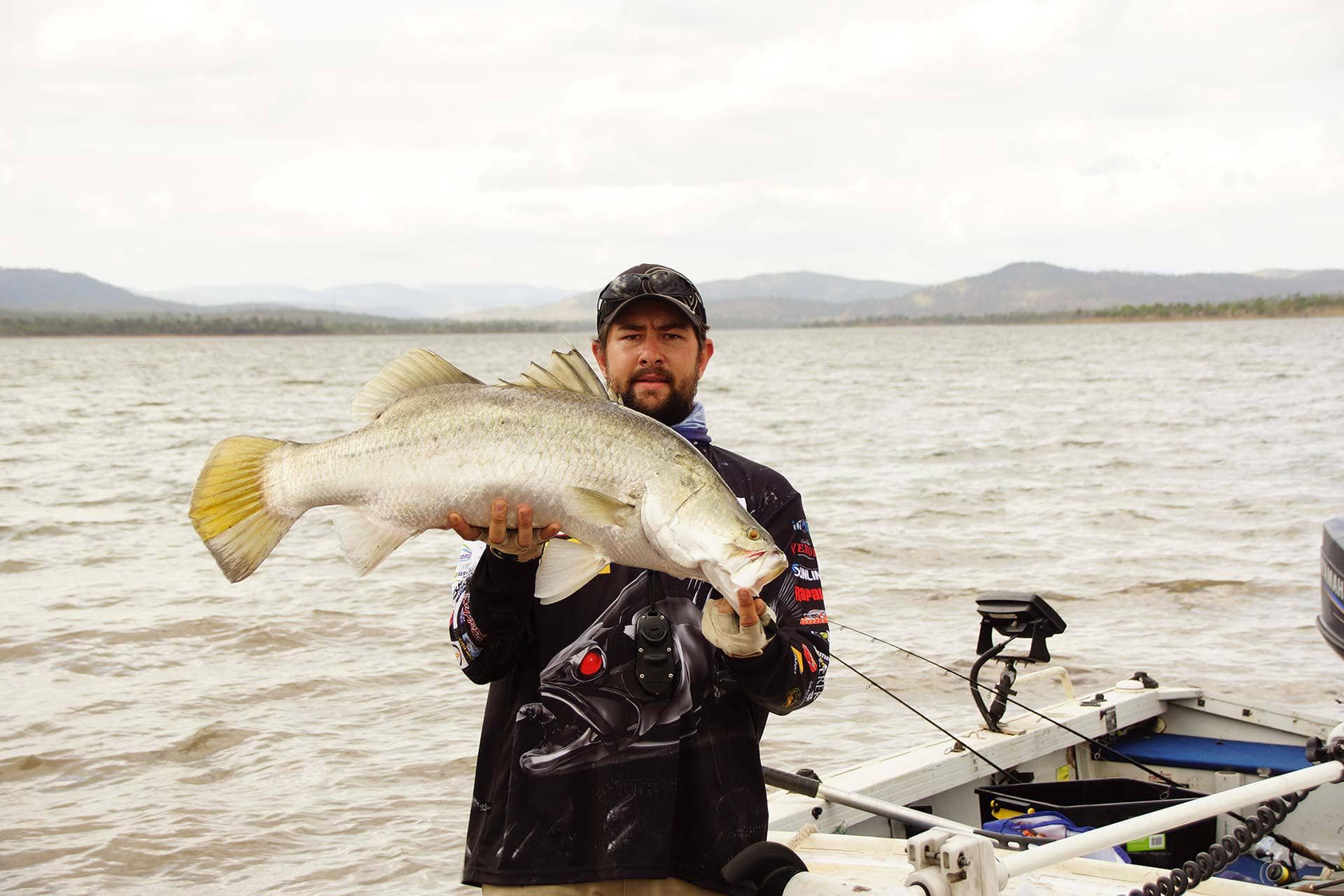 fishing-Barra-catch-at-Callide-Dam