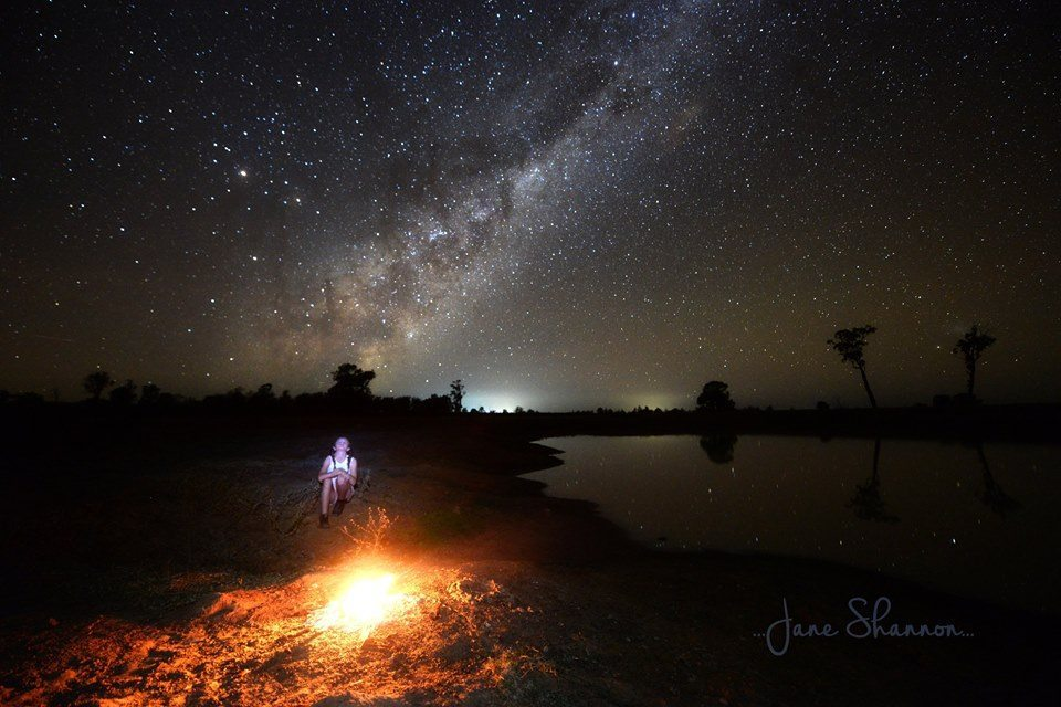 MIlky Way and Campfire