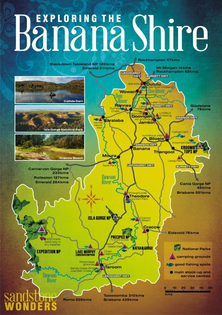 Banana Shire Map WEB