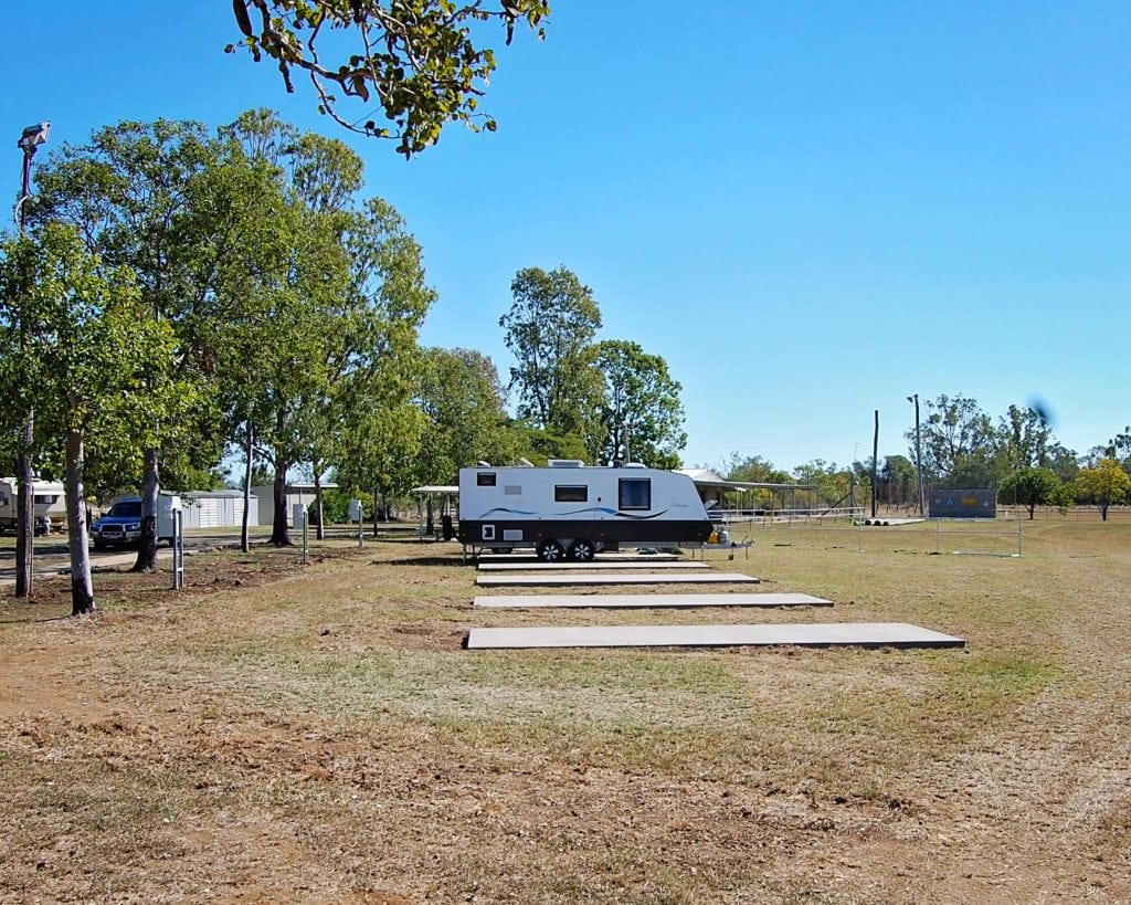 Campsites at Goovigen Recreation Grounds