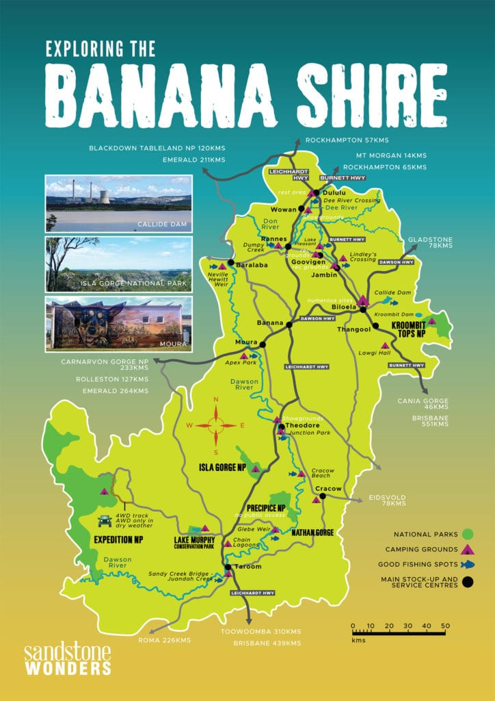 Banana Shire Map